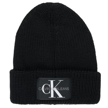 Textilné doplnky Muži Čiapky Calvin Klein Jeans MONOGRAM BEANIE WL Čierna