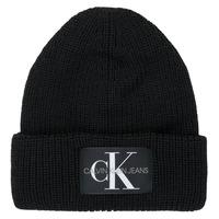 Textilné doplnky Ženy Čiapky Calvin Klein Jeans MONOGRAM BEANIE WL Čierna