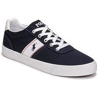 Topánky Muži Nízke tenisky Polo Ralph Lauren HANFORD RECYCLED CANVAS Námornícka modrá