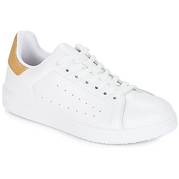 Topánky Ženy Nízke tenisky Yurban SATURNA Biela / Zlatá