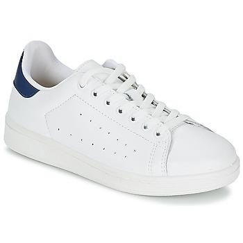 Topánky Muži Nízke tenisky Yurban SATURNA Biela / Námornícka modrá