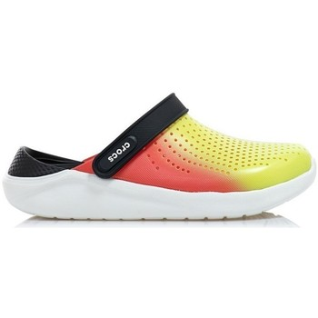 Topánky Muži Nazuvky Crocs Literide Clog Čierna, Červená, Žltá