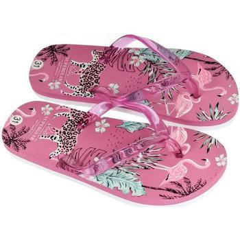 Topánky Ženy Žabky Super Gear Detské ružové šľapky SAFARI ružová