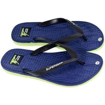 Topánky Muži Žabky Super Gear Pánske modré šľapky MATHEW modrá
