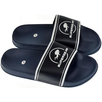Topánky Muži športové šľapky Super Gear Pánske tmavo-modré šľapky NASH tmavomodrá