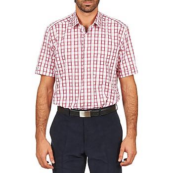 Oblečenie Muži Košele s krátkym rukávom Pierre Cardin CH MC CARREAU GRAPHIQUE Biela / Červená