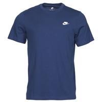 Oblečenie Muži Tričká s krátkym rukávom Nike NIKE SPORTSWEAR CLUB Modrá / Biela