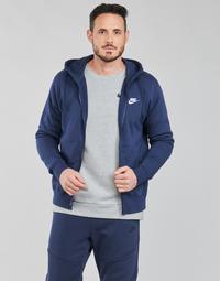 Oblečenie Muži Mikiny Nike NIKE SPORTSWEAR CLUB FLEECE Modrá / Námornícka modrá / Biela