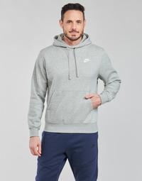 Oblečenie Muži Mikiny Nike NIKE SPORTSWEAR CLUB FLEECE Šedá / Biela
