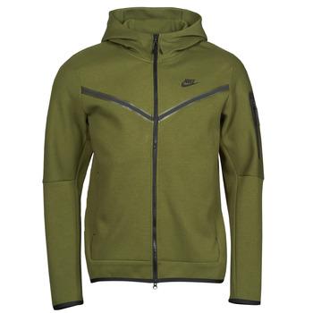 Oblečenie Muži Vrchné bundy Nike NIKE SPORTSWEAR TECH FLEECE Zelená / Čierna