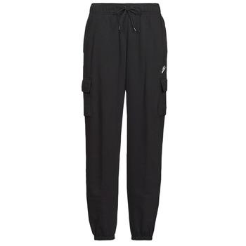 Oblečenie Ženy Tepláky a vrchné oblečenie Nike W NSW ESSNTL FLC MR CRGO PNT Čierna / Biela