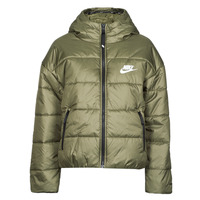 Oblečenie Ženy Vyteplené bundy Nike W NSW TF RPL CLASSIC HD JKT Kaki / Biela