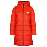 Oblečenie Ženy Vyteplené bundy Nike W NSW TF RPL CLASSIC HD PARKA Červená / Čierna / Biela