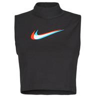 Oblečenie Ženy Tielka a tričká bez rukávov Nike W NSW TANK MOCK PRNT Čierna