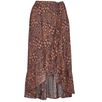 Oblečenie Ženy Sukňa Betty London PAOLA Námornícka modrá / Okrová-svetlá hnedá