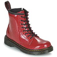 Topánky Dievčatá Polokozačky Dr Martens 1460 J Červená