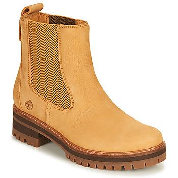 Topánky Ženy Polokozačky Timberland COURMAYEUR VALLEY CHELSEA Žltá obilná
