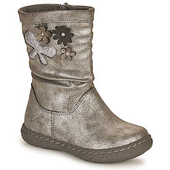 Topánky Dievčatá Čižmy do mesta Chicco CAROL Strieborná