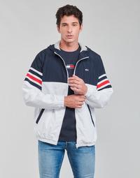 Oblečenie Muži Bundy  Tommy Jeans TJM COLORBLOCK ZIPTHRU Modrá / Biela / Červená