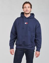 Oblečenie Muži Mikiny Tommy Jeans TJM TOMMY BADGE HOODIE Námornícka modrá