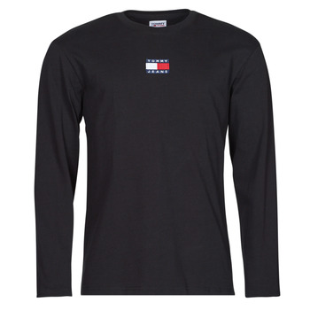 Oblečenie Muži Tričká s dlhým rukávom Tommy Jeans TJM LS TOMMY BADGE TEE Čierna