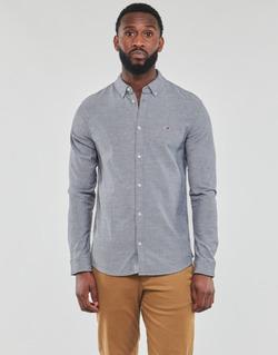 Oblečenie Muži Košele s dlhým rukávom Tommy Jeans TJM STRETCH OXFORD SHIRT Čierna