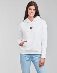 Oblečenie Ženy Mikiny Tommy Jeans TJW TOMMY CENTER BADGE HOODIE Biela