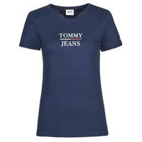 Oblečenie Ženy Tričká s krátkym rukávom Tommy Jeans TJW SKINNY ESSENTIAL TOMMY T SS Námornícka modrá