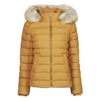 Oblečenie Ženy Vyteplené bundy Tommy Jeans TJW BASIC HOODED DOWN JACKET Žltá horčicová