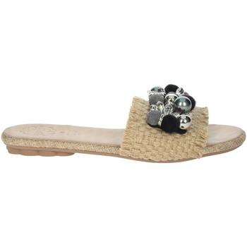 Topánky Ženy Šľapky Porronet FI2608 Beige/Black
