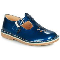 Topánky Dievčatá Sandále Aster DINGO Modrá / Lakovaná