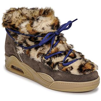 Topánky Ženy Polokozačky Serafini MOON LOW Leopard