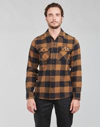 Oblečenie Muži Košele s dlhým rukávom Dickies NEW SACRAMENTO SHIRT Ťavia hnedá / Čierna