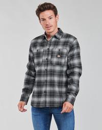Oblečenie Muži Košele s dlhým rukávom Dickies EVANSVILLE LS Čierna