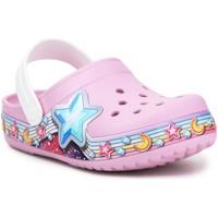 Topánky Dievčatá Nazuvky Crocs FL Star Band Clog 207075-6GD purple