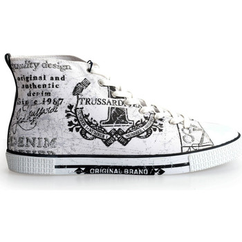 Topánky Muži Členkové tenisky Trussardi  Biela