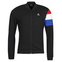 Oblečenie Muži Vrchné bundy Le Coq Sportif TRI FZ SWEAT N 1 M Čierna