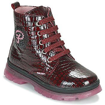 Topánky Dievčatá Polokozačky Pablosky 404167 Bordová