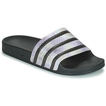 Topánky Ženy športové šľapky adidas Originals ADILETTE Čierna / Strieborná