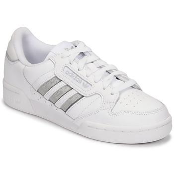 Topánky Ženy Nízke tenisky adidas Originals CONTINENTAL 80 STRI Biela / Strieborná