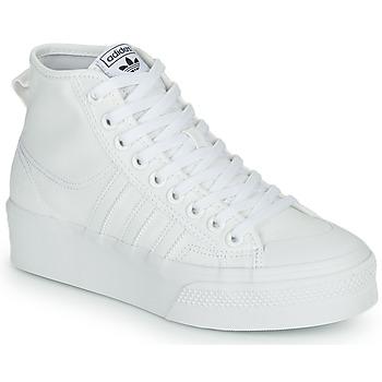 Topánky Ženy Členkové tenisky adidas Originals NIZZA PLATFORM MID Biela