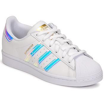 Topánky Ženy Nízke tenisky adidas Originals SUPERSTAR W Biela / Perleťový