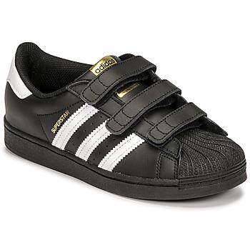 Topánky Deti Nízke tenisky adidas Originals SUPERSTAR CF C Čierna / Biela