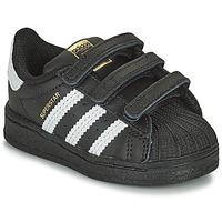 Topánky Deti Nízke tenisky adidas Originals SUPERSTAR CF I Čierna / Biela