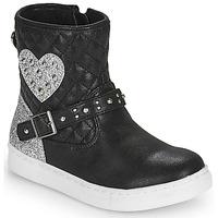 Topánky Dievčatá Polokozačky Primigi B&G LUX Čierna / Strieborná