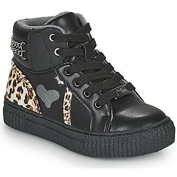 Topánky Dievčatá Členkové tenisky Primigi GIRL ALPHA Čierna / Leopard