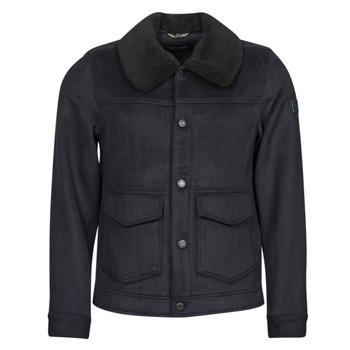 Oblečenie Muži Kabáty Scotch & Soda SHERPA-TRIMMED WOOL Námornícka modrá