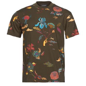 Oblečenie Muži Tričká s krátkym rukávom Scotch & Soda PRINTED RELAXED FIT Hnedá