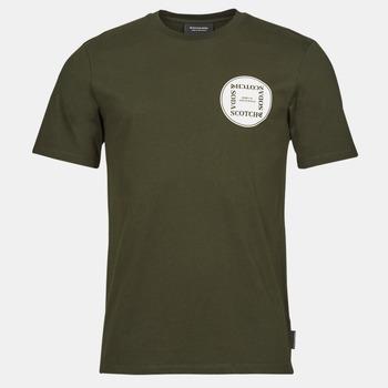 Oblečenie Muži Tričká s krátkym rukávom Scotch & Soda GRAPHIC LOGO T-SHIRT Kaki