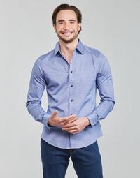Oblečenie Muži Košele s dlhým rukávom Scotch & Soda CLASSIC SLIM FIT KNITTED Modrá